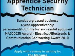 Apprentice Security Technician