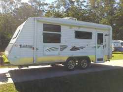 19ft6 t/axle,new wash/m,Q/s bed,sh/t,gas/e hws,L shape dinette,led lights,gas/elect hotplates,130l f...