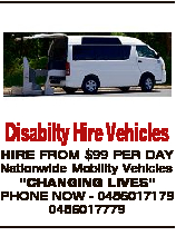 Disabilty Hire Vehicles