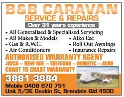 B & B Caravan Service & Repairs