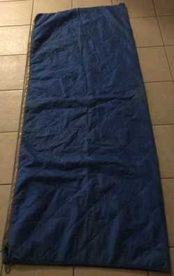 blue, 175cm by 73cm, good condition, only