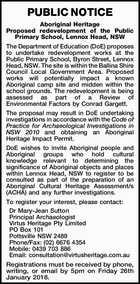 PUBLIC NOTICE Aboriginal Heritage