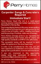 Carpenter Gangs & Concreters Required