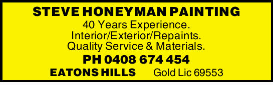 40 Years Experience. Interior/Exterior/Repaints. Quality Service & Materials.