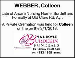 WEBBER, Colleen