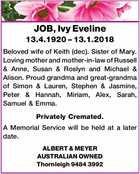 JOB, Ivy Eveline
