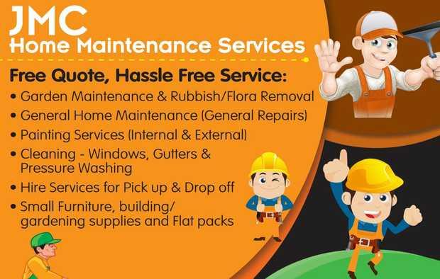 JMC Home Maintenance Services   Free Quote, Hassle Free Service:    • Garden Mainten...