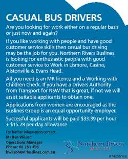 CASUAL BUS DRIVERS Are you looking for work either on a regular basis or just now and again? If you...