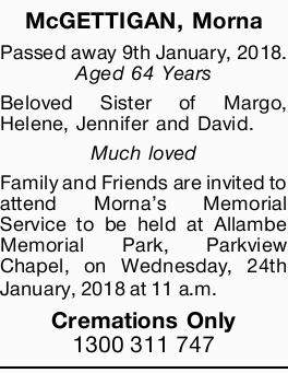 McGETTIGAN, Morna