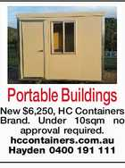 Portable Buildings  New