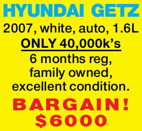 white  auto  1.6L  ONLY 40,000k's  6 months reg  family owned ...