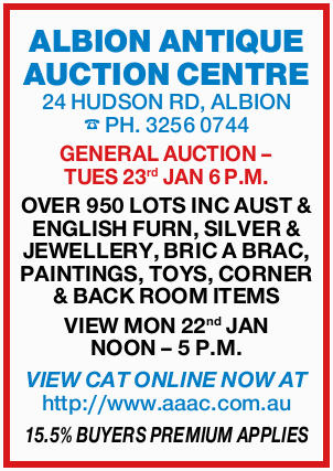 ALBION ANTIQUE AUCTION CENTRE 24 HUDSON RD, ALBION