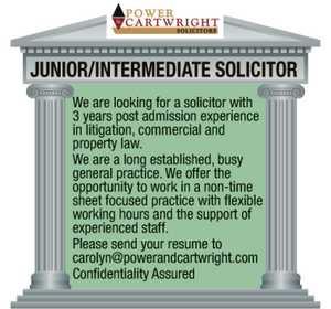 Junior Intermediate Solicitor