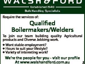 Qualified Boilermakers/Welders
