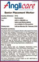 Senior Placement Worker
