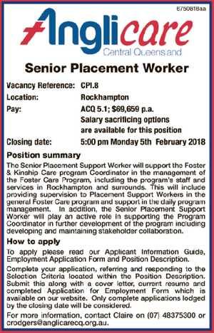 Senior Placement Worker