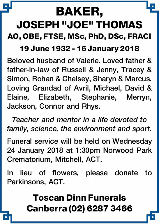 AO, OBE, FTSE, MSc, PhD, DSc, FRACI
