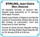 STIRLING, Jean Claire (Rev. Deacon)