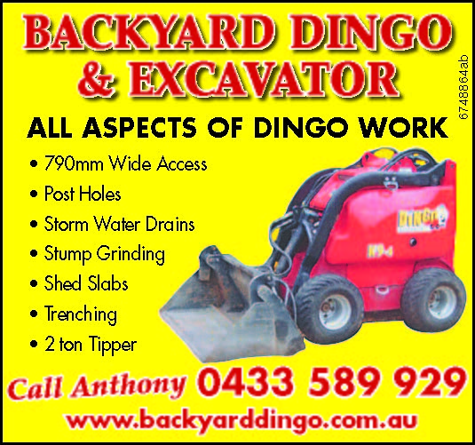 ALL ASPECTS OF DINGO WORK