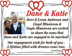 Dane & Katie Steve & Leesa Anderson and Lloyd Minniecon & Gayle Minniecon are excited to...
