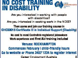 NO COST TRAINING IN DISABILITY