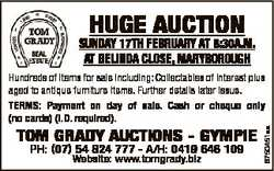 HUGE AUCTION SUNDAY 17TH FEBRUARY AT 8:30A.M. AT BELINDA CLOSE, MARYBOROUGH TOM GRADY AUCTIONS - GYM...