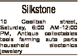 Silkstone 10 Coolibah street, Saturday, 6:00 AM-12:00 PM, Antique collectables tools farming auto pa...