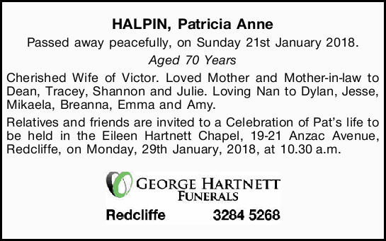 HALPIN, Patricia Anne
