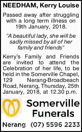 NEEDHAM, Kerry Louise