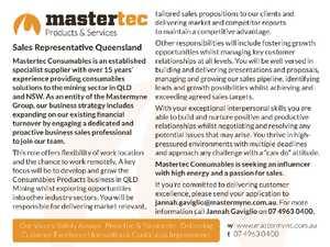 Sales Representative Queensland