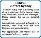 ROWE, Clifford Sydney