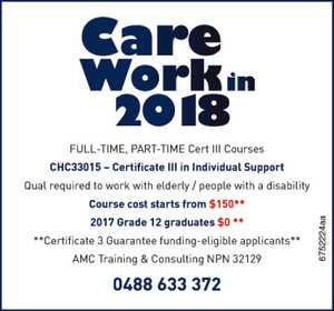 Care Work in 2018