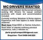 MC DRIVERS WANTED