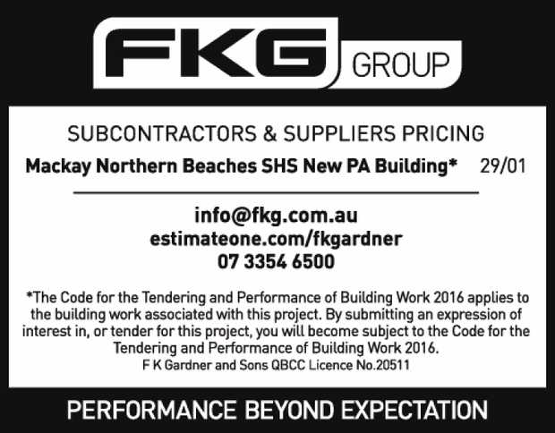 FKG Group SUBCONTRACTORS AND SUPPLIERS PRICING: