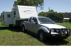 2006 23 ft Forest River Flagstaff 5th Wheeler. With slideout dining and lounge rooms Reverse...