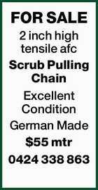 2 inch high tensile afc Scrub Pulling Chain