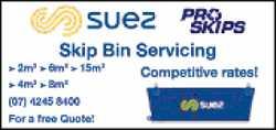 Skip Bin Servicing    2m3 > 6m3 > 15m3  4m3 > 8m3   Competitive Rates! ...