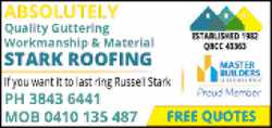 ABSOLUTELY Quality Guttering, Workmanship & Material   If you want it to last ring Russel...