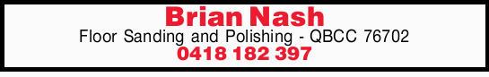 Floor Sanding and Polishing - QBCC 76702