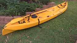 Escapade sit on top single 35 kg. 3.5 metres long . Yellow with paddle.