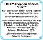 "FOLEY, Stephen Charles ""Bert"""