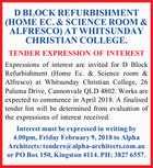 D BLOCK REFURBISHMENT (HOME EC. & SCIENCE ROOM & ALFRESCO)