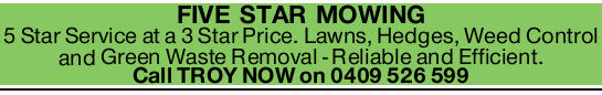 5 Star Service at a 3 Star Price. Lawns, Hedges, Weed Control and Green Waste Removal Rel...