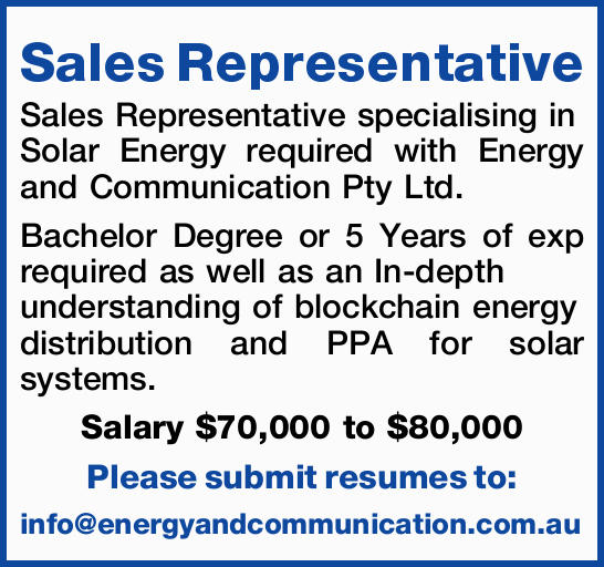 Sales Representative
