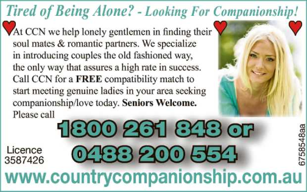 Looking For Companionship!