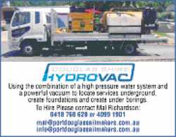 Using the combination of a high pressure water system and a powerful vacuum to locate services un...