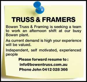 TRUSS & FRAMERS