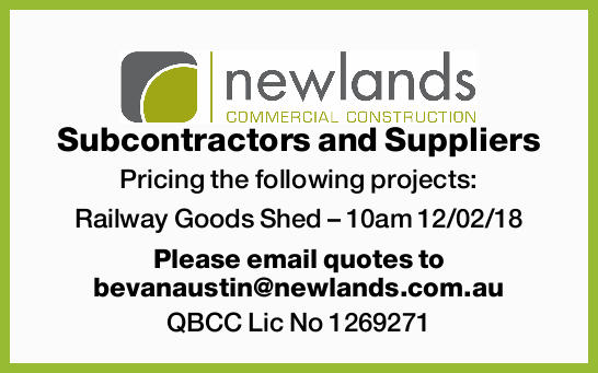 Subcontractors and Suppliers Pricing the following projects: