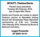 WYATT, Thelma Doris