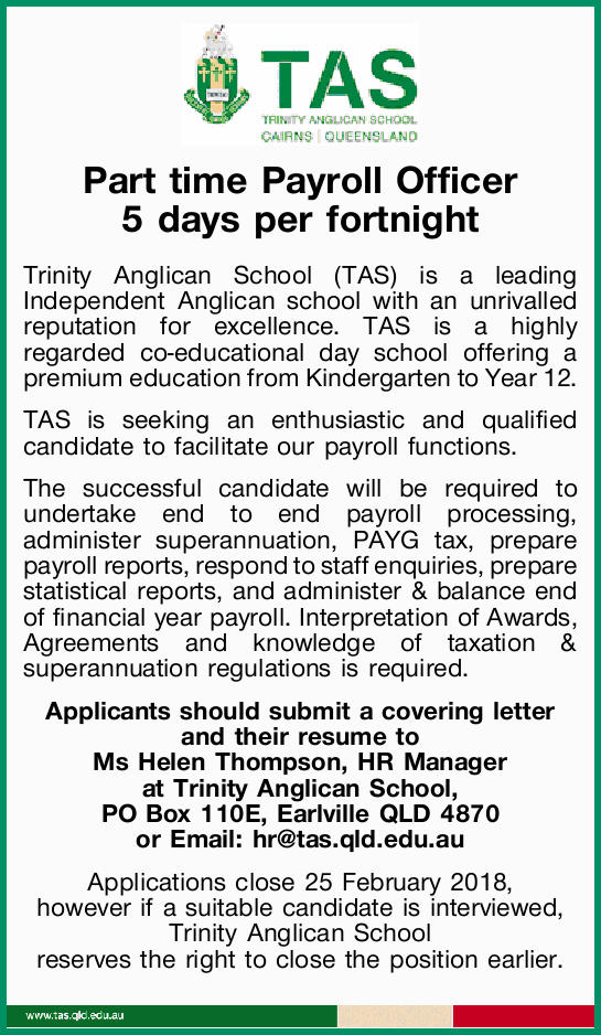 Part time Payroll Officer